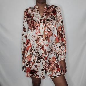 H&M Floral Shirt Dress